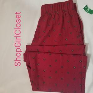 Dip Wide Leg Pants...Red/Blk...Size 12